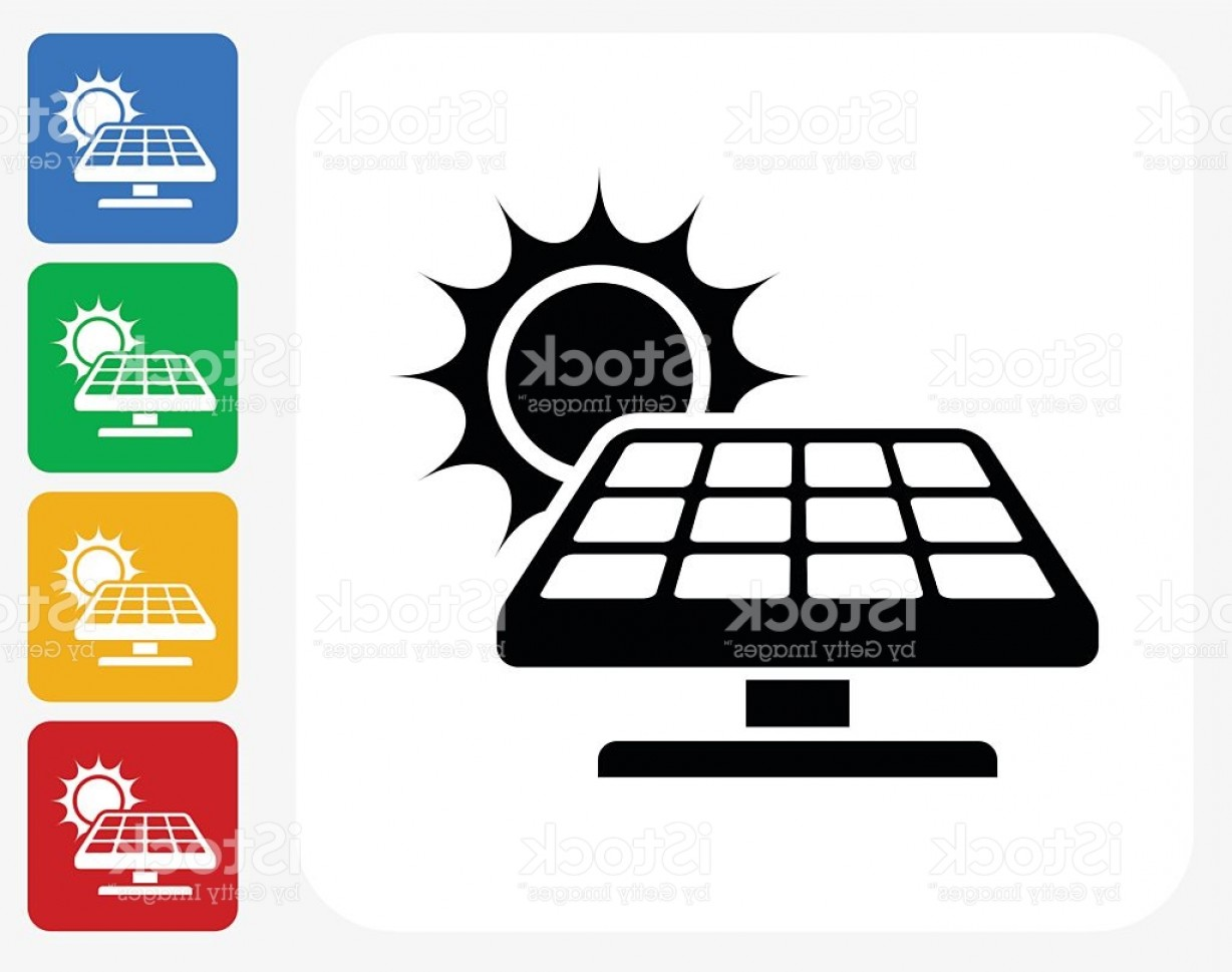 Solar Icon Vector: Solar Panel Icon Flat Graphic Design Gm
