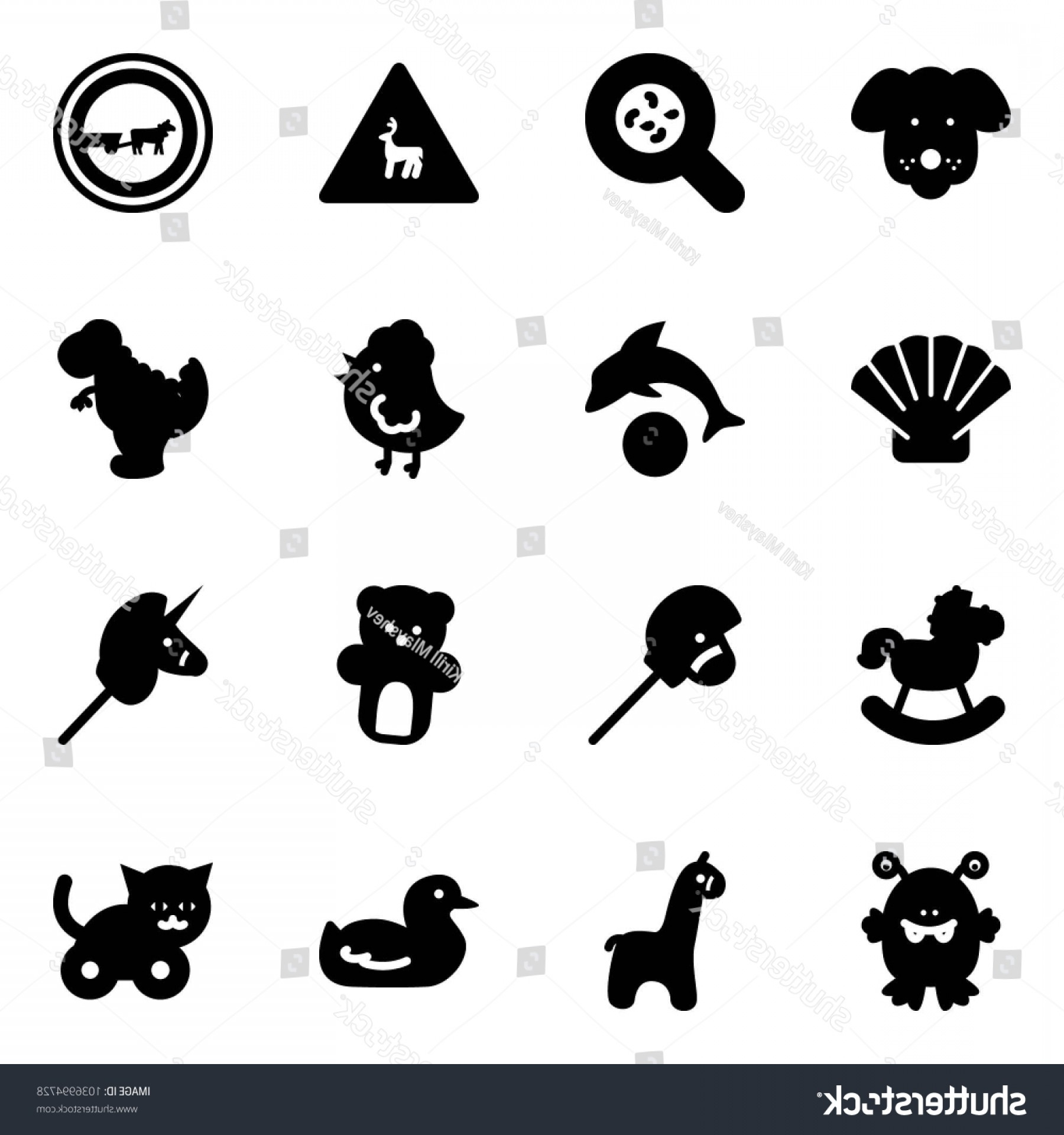 Road Sign Silhouette Vector Bear: Solid Vector Icon Set Dog Bacteria
