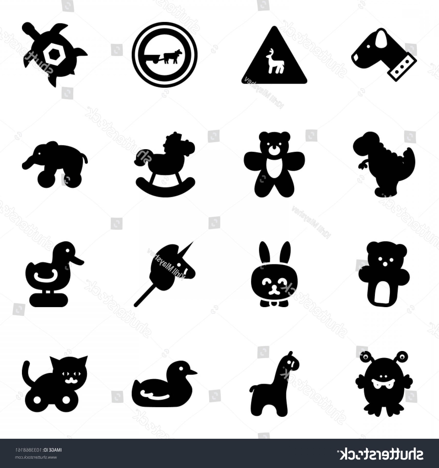 Road Sign Silhouette Vector Bear: Solid Vector Icon Set Dog Wild