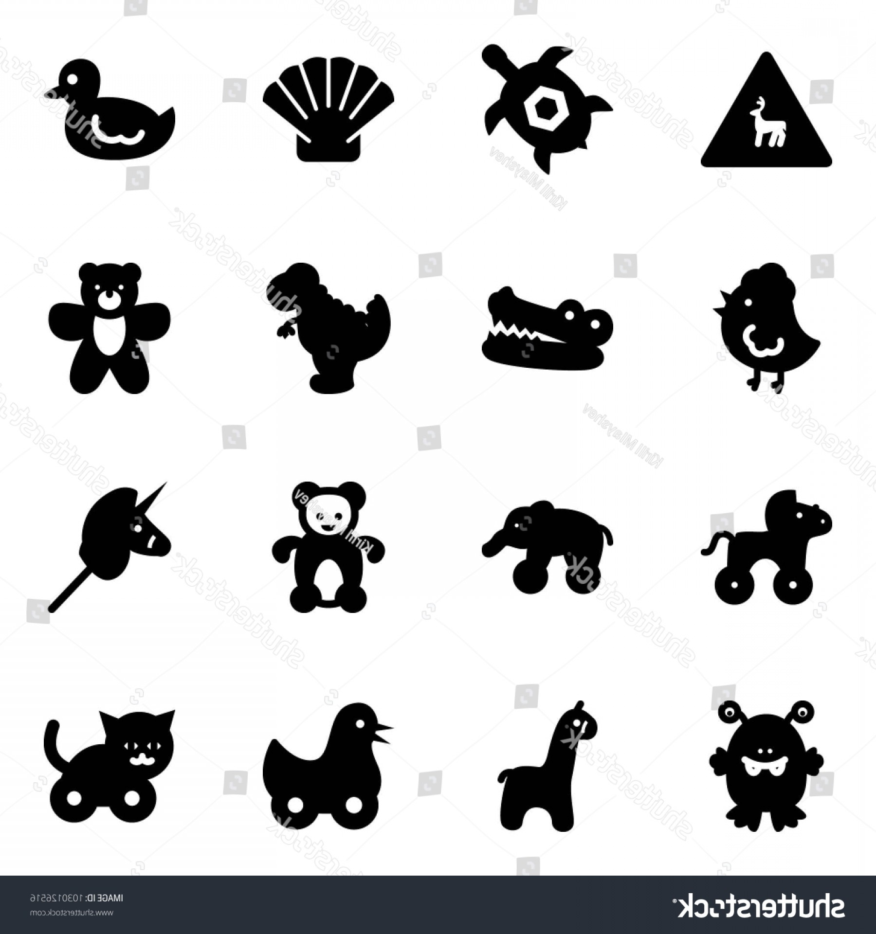Road Sign Silhouette Vector Bear: Solid Vector Icon Set Wild Animals