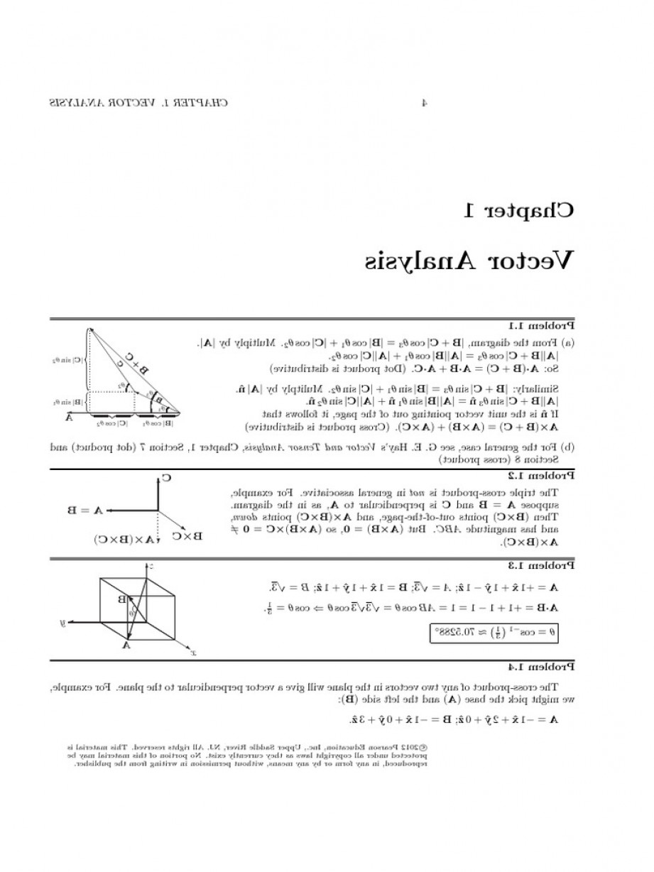 1-1 Vector: Solution Chap Introduction To Electrodynamics Th Ed