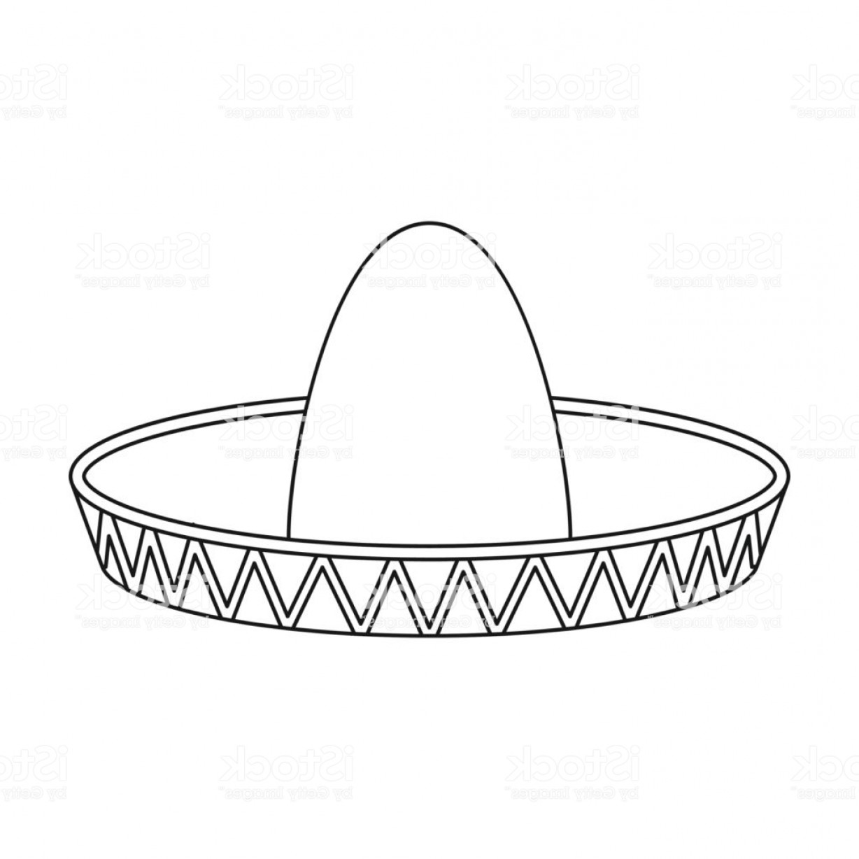 Sombrero Icon In Outline Style Isolated On White Background Hats