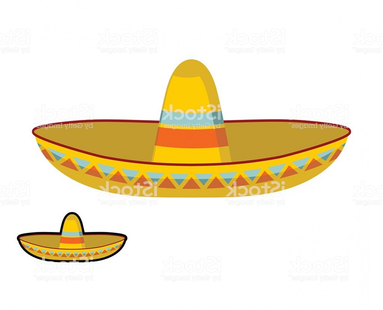 Sombrero Hat Vector: Sombrero Isolated Colorful Mexican Hat Ornament National Cap Gm