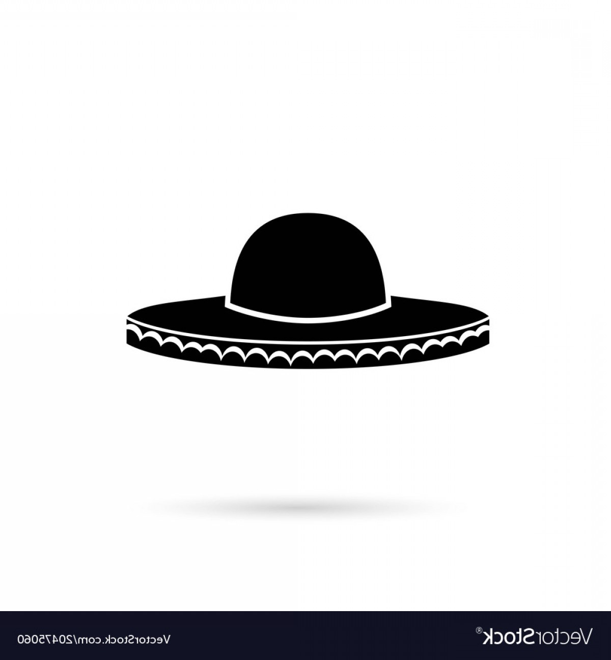 Sombrero Hat Vector: Sombrero Mexican Hat Colorful Flat Icon Vector
