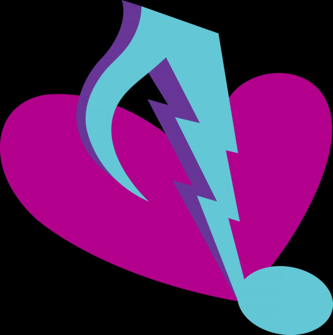 I Love You Mark Vector: Sonata Dusk Cutie Mark Vector
