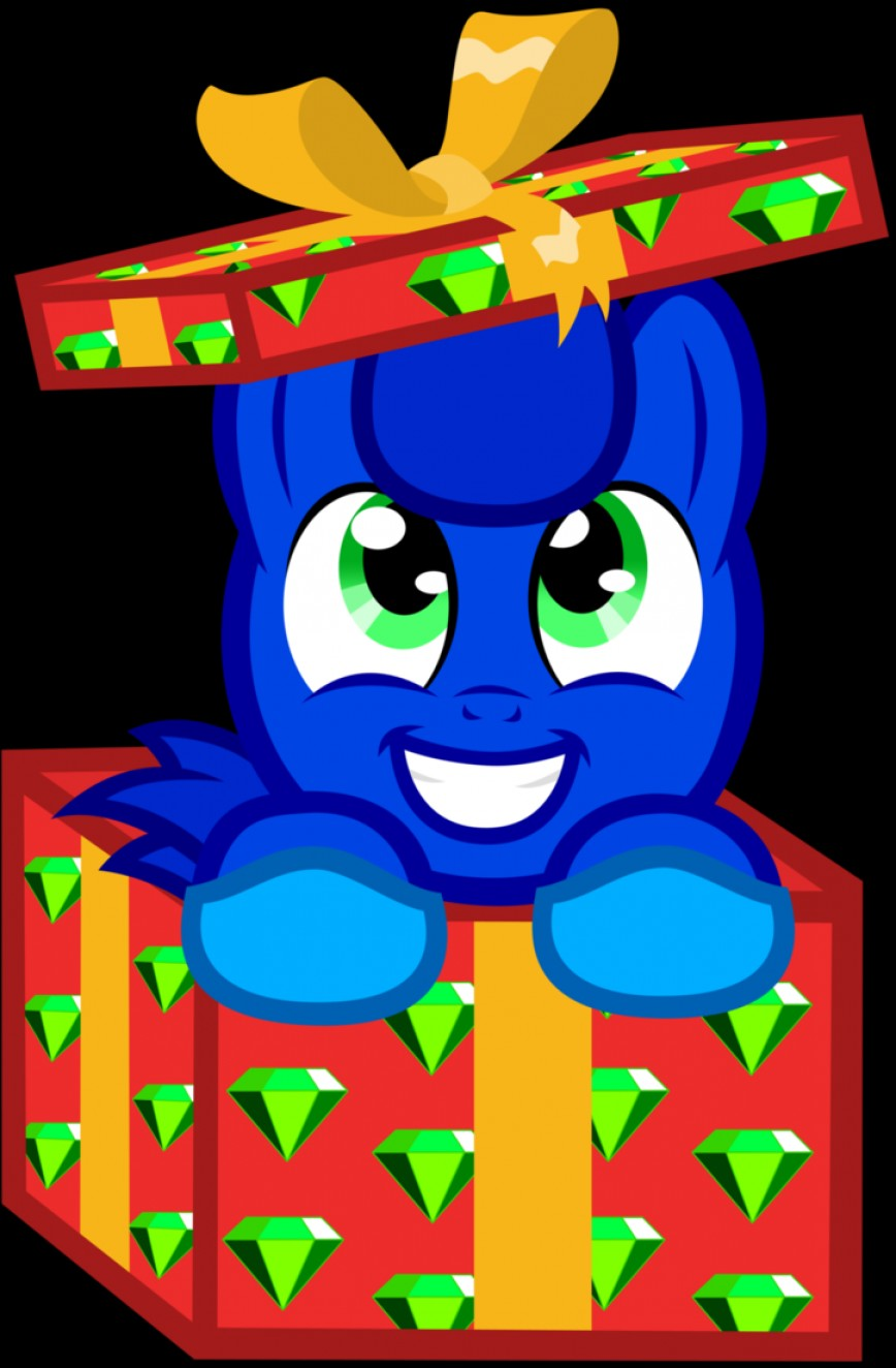 MLP Present Vector: Sonic Boom In Christmas Present