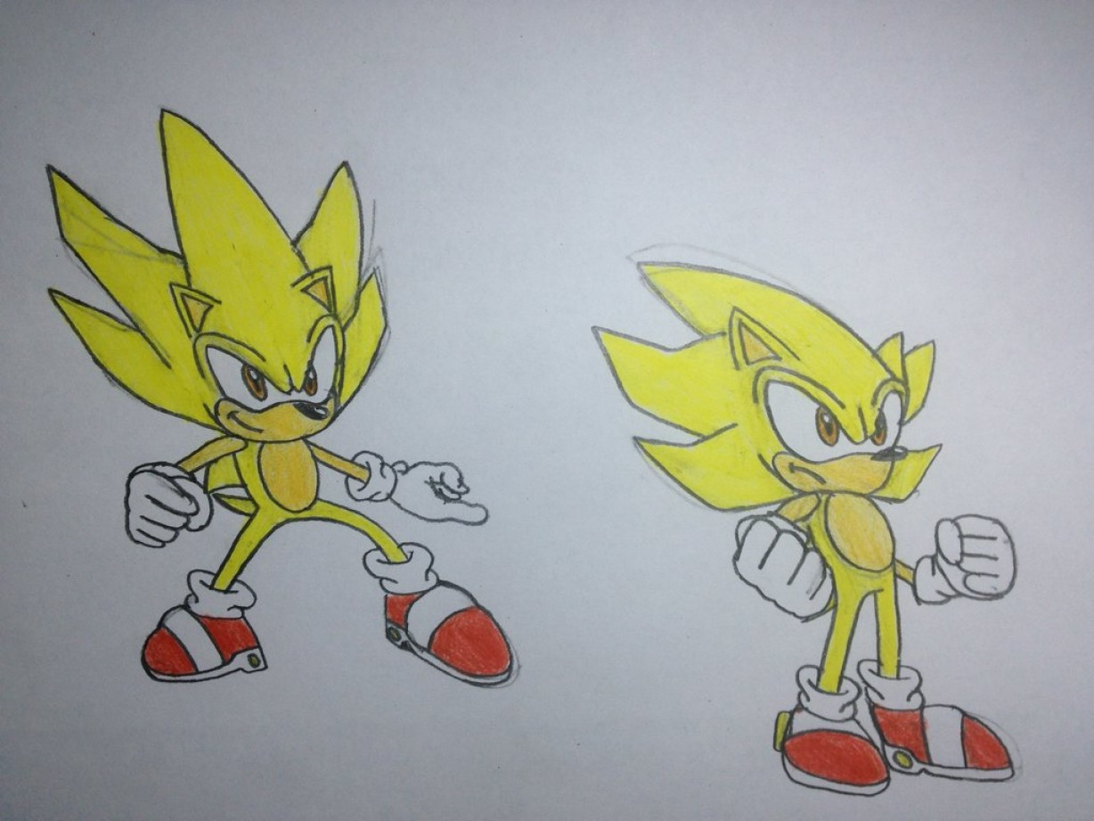 Vector Sonic X Drawings: Sonic Drawing Super Sonic Sonic X Poses And