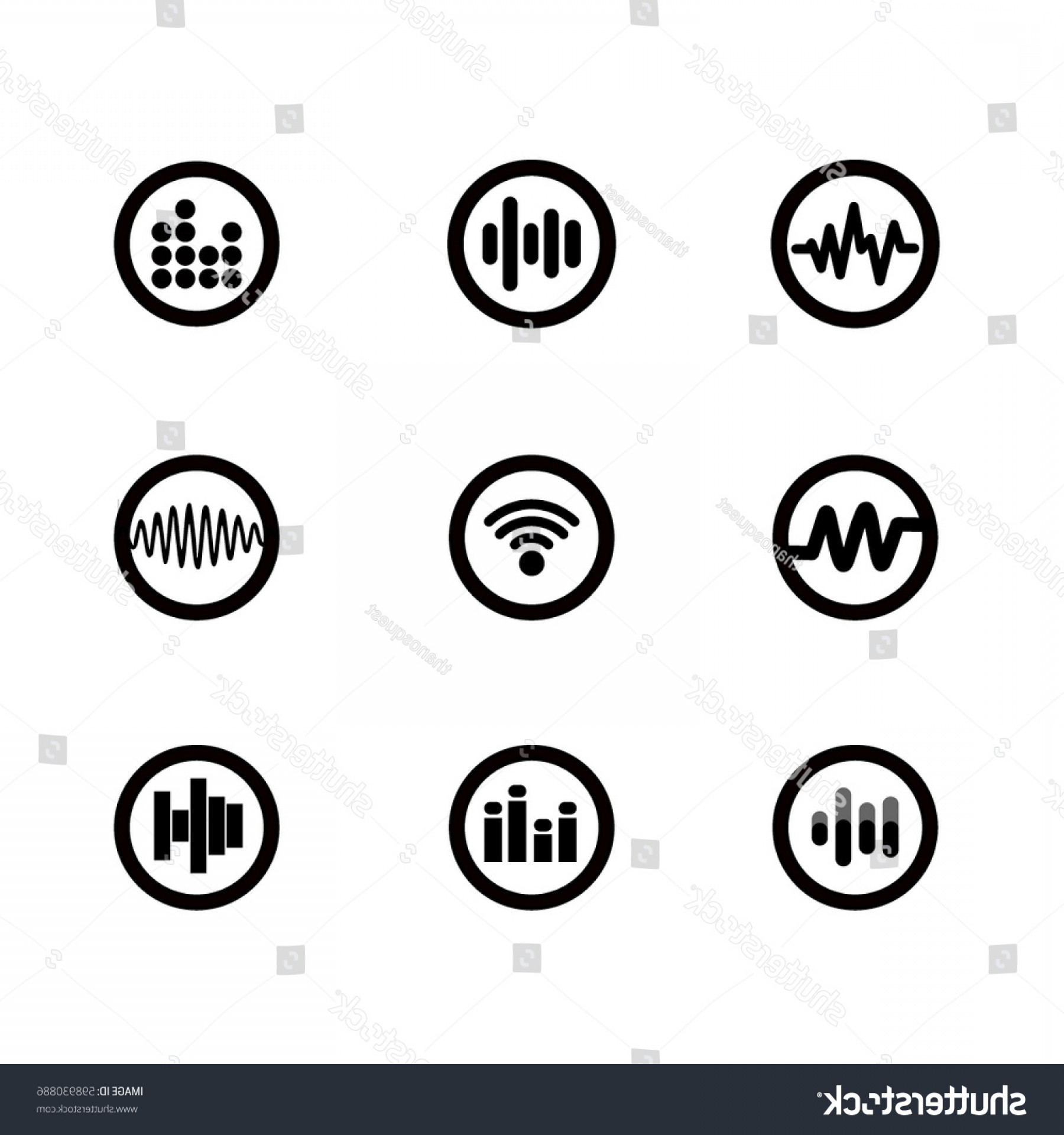 Equalizer Vector Icons: Sound Wave Equalizer Vector Icons