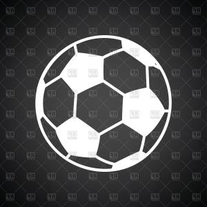 Soccer Icon Vector: Soccer Ball Icon Vector Clipart