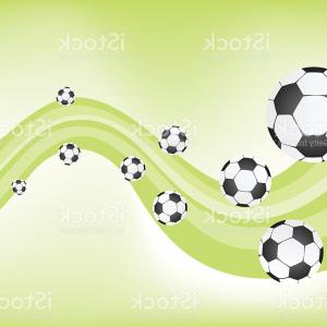 Football Vector Wallpaper: Stock Illustration Texture Background With Isolated Football