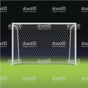 Soccer Net Vector Black: Soccer Goal On Black Gm