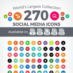 Simple Social Media Icons Vector Free: Social Media Icons Free Vector