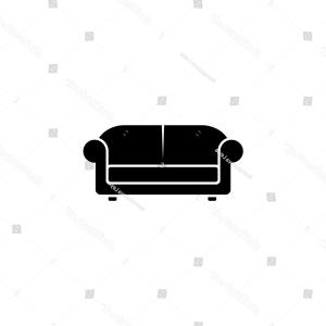 Sofa Vector: Sofa Vector Illustration Isolated On White