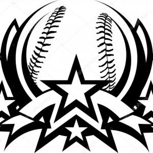 Basketball Seams Vector Clip Art: Stock Photo Baseball Stitches Set