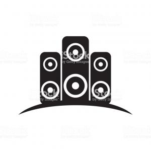 Sound Icon Vector: Sound Icon Vector Illustration Logo Design Template Image