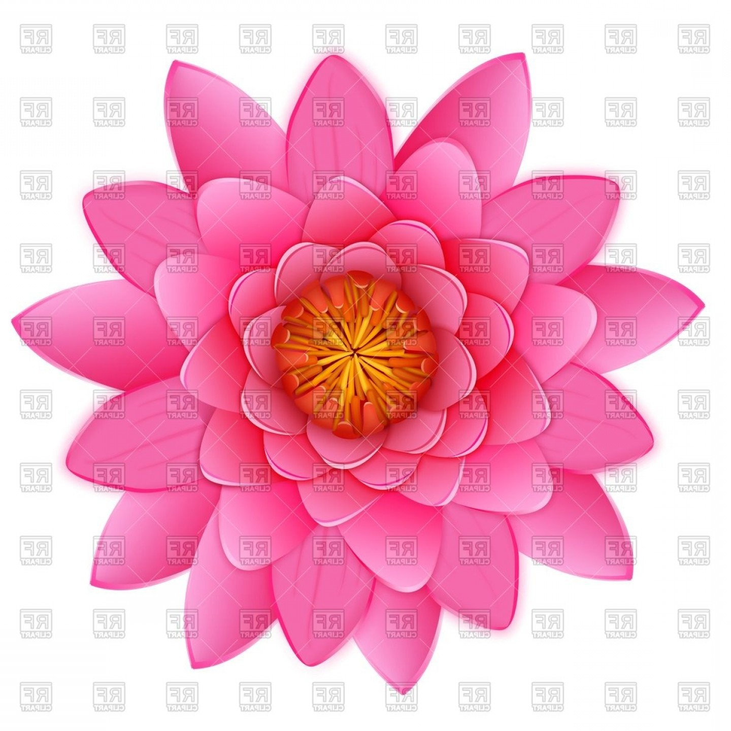 Icon Of Flower Vectors: Spa Therapy Lotus Flower Icon Vector Clipart