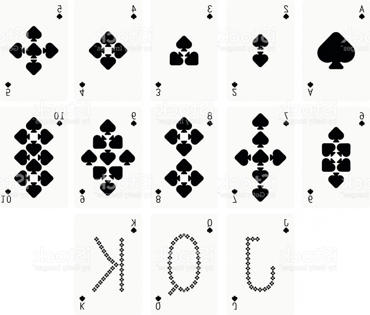Spade Card Vector: Spade Suit Two Playing Cards Gm