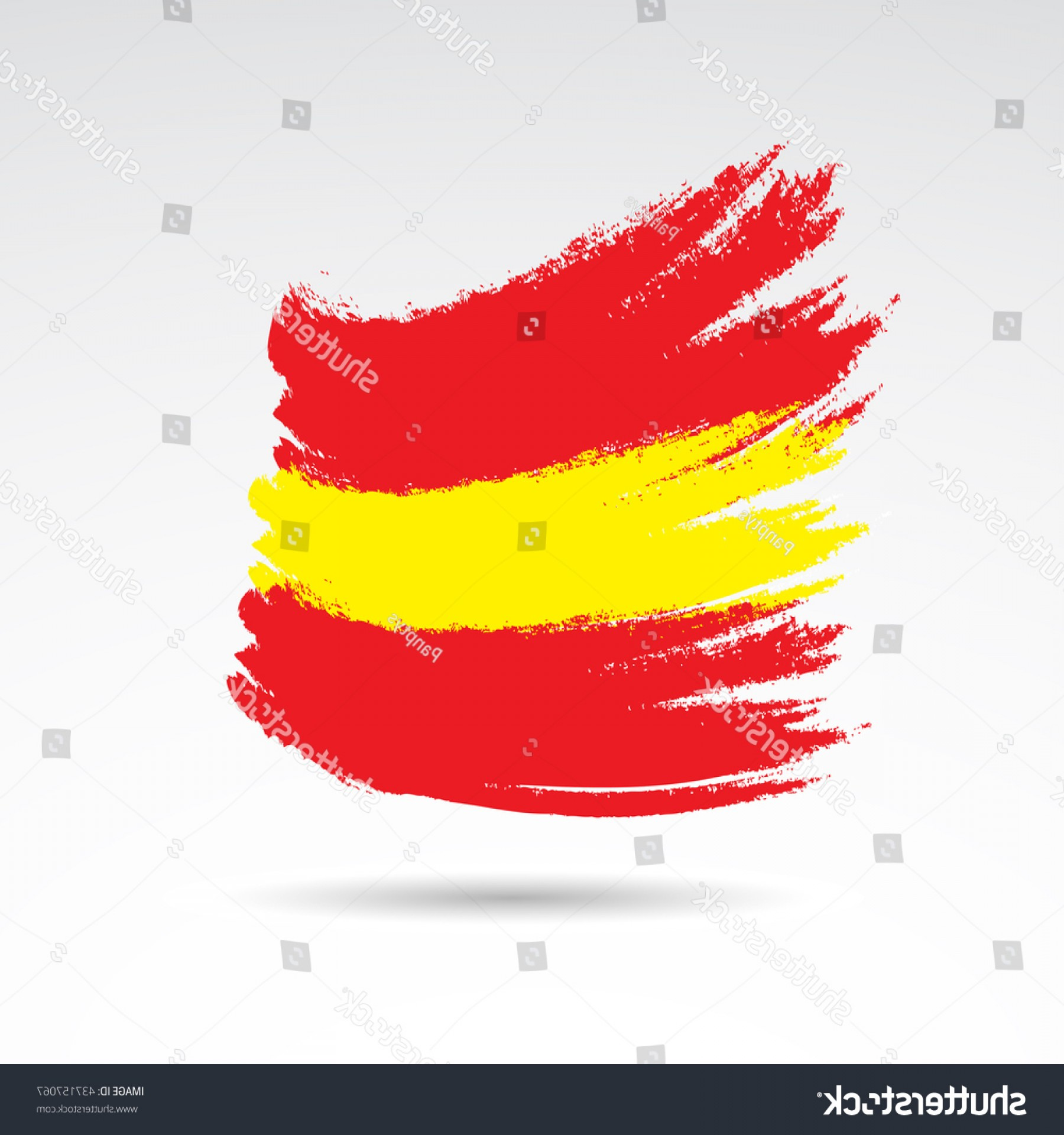 Spanish Vector Art: Spanish Flag Colored Paint Splash Isolated