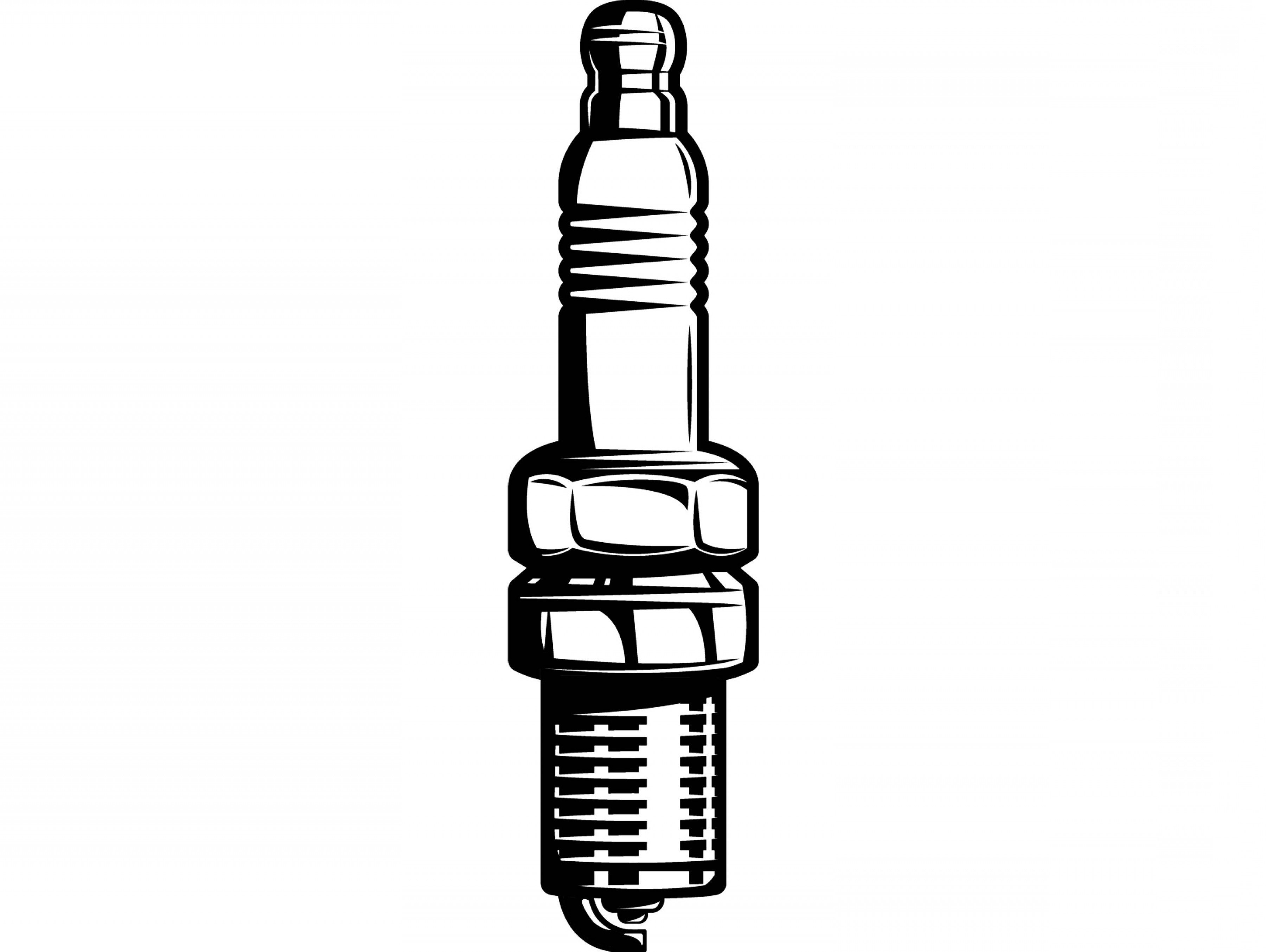Spark Plug Vector: Spark Plug Mechanic Motor Engine