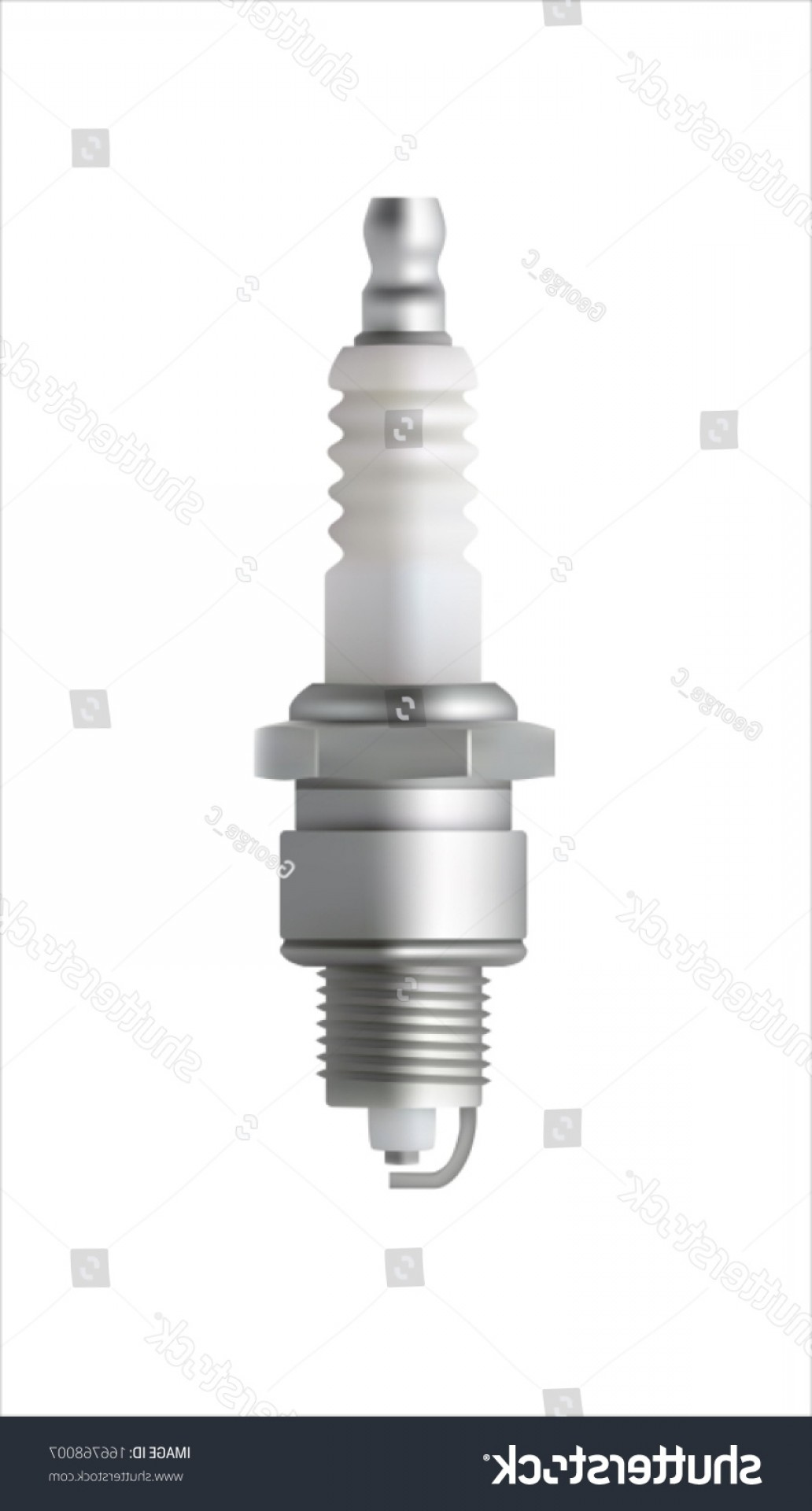 Spark Plug Vector: Spark Plug Vector Isolated On White