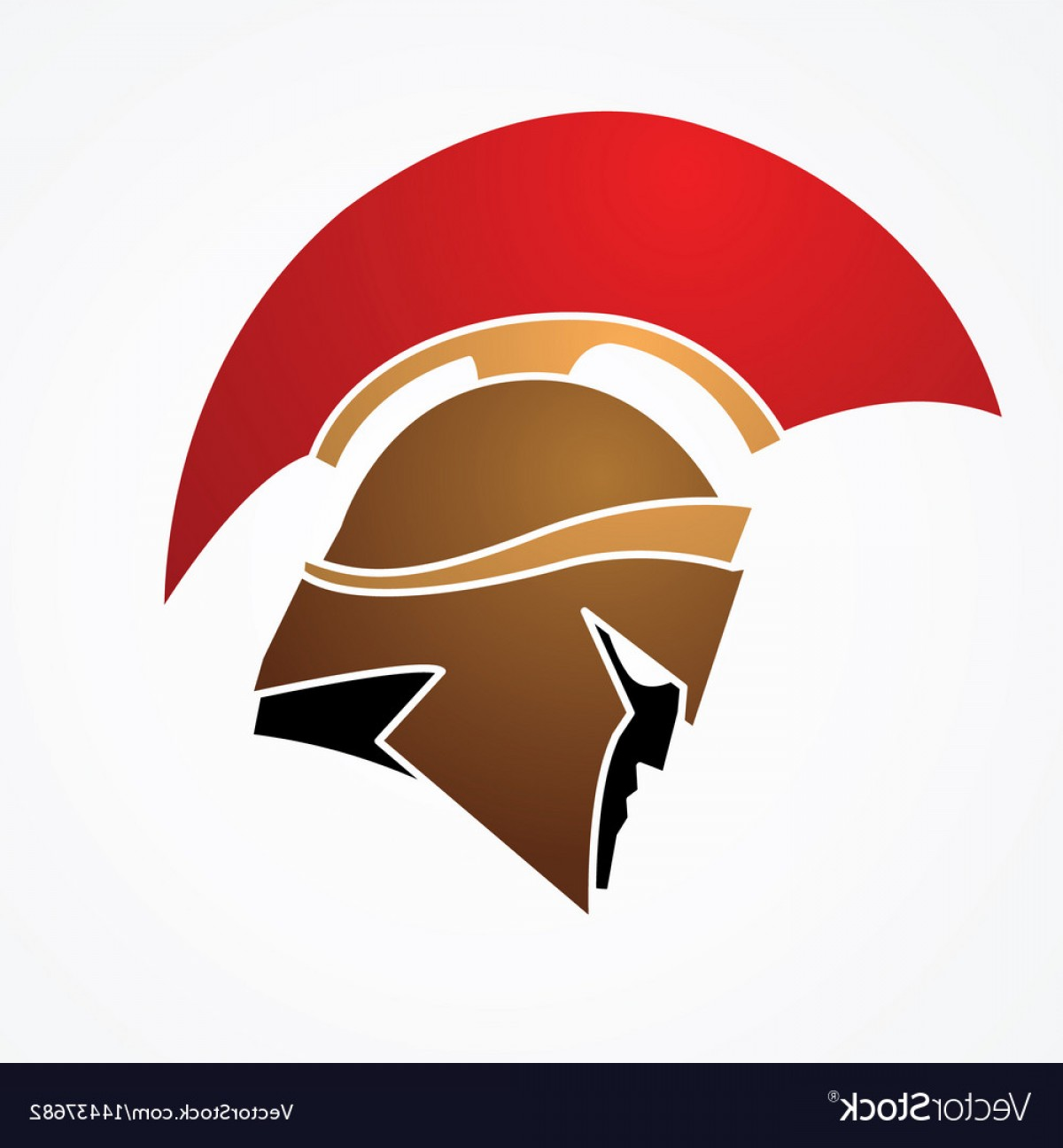 Fighter Helmet Vectors: Spartan Warrior Helmet Weapon Head Roman Fighter Vector