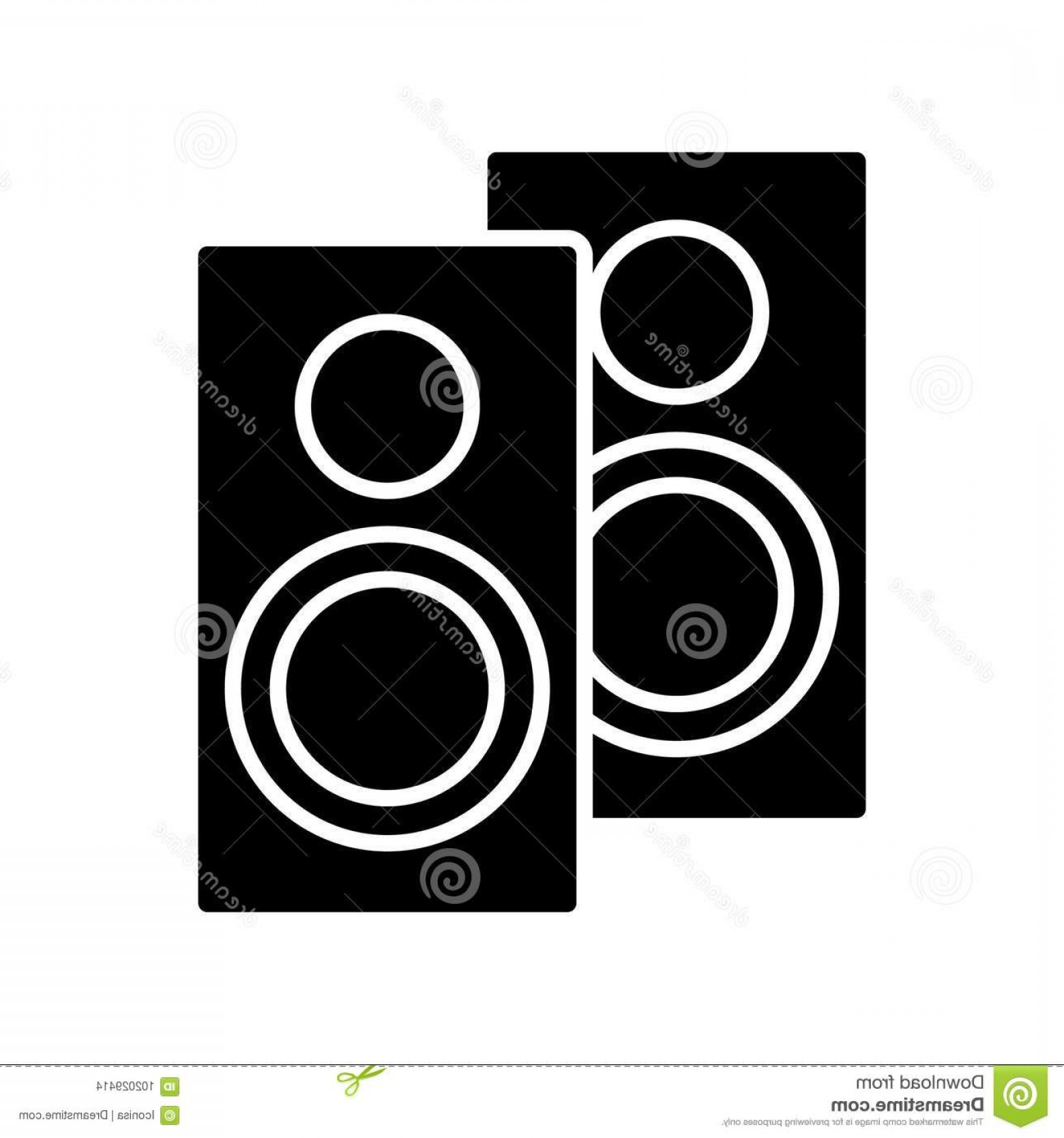 Speakers Vector Black: Speakers Icon Illustration Vector Sign Isolated Background Speakers Icon Vector Illustration Black Sign Isolated Background Image