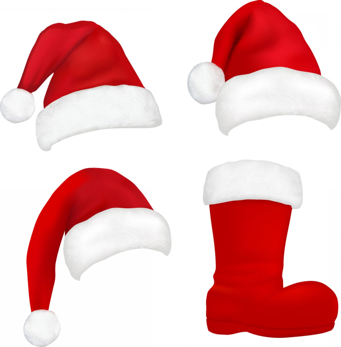 Stocking Hat Vector: Special Christmas Hats Vector