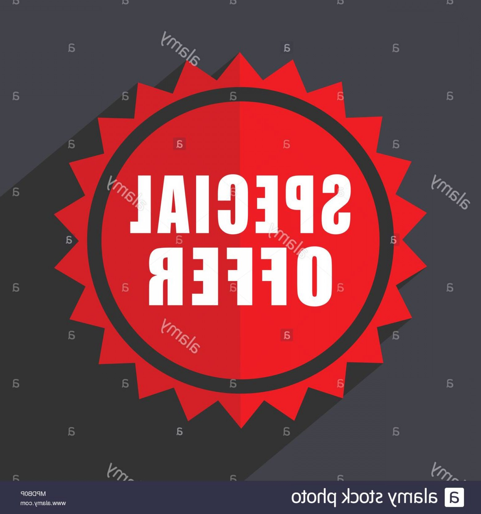 Vector Special Design: Special Offer Red Vector Sticker Flat Design Icon Image