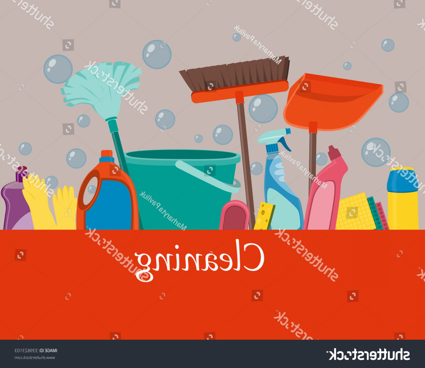 Tools For Text Vector: Special Poster Cleaning Tools Space Text Vector