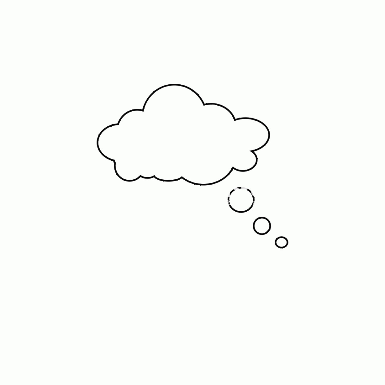 Thought Bubble Vector Sketch: Speech Bubble Icon Thinking Speach Bubble Vector Thought Cloud Gm