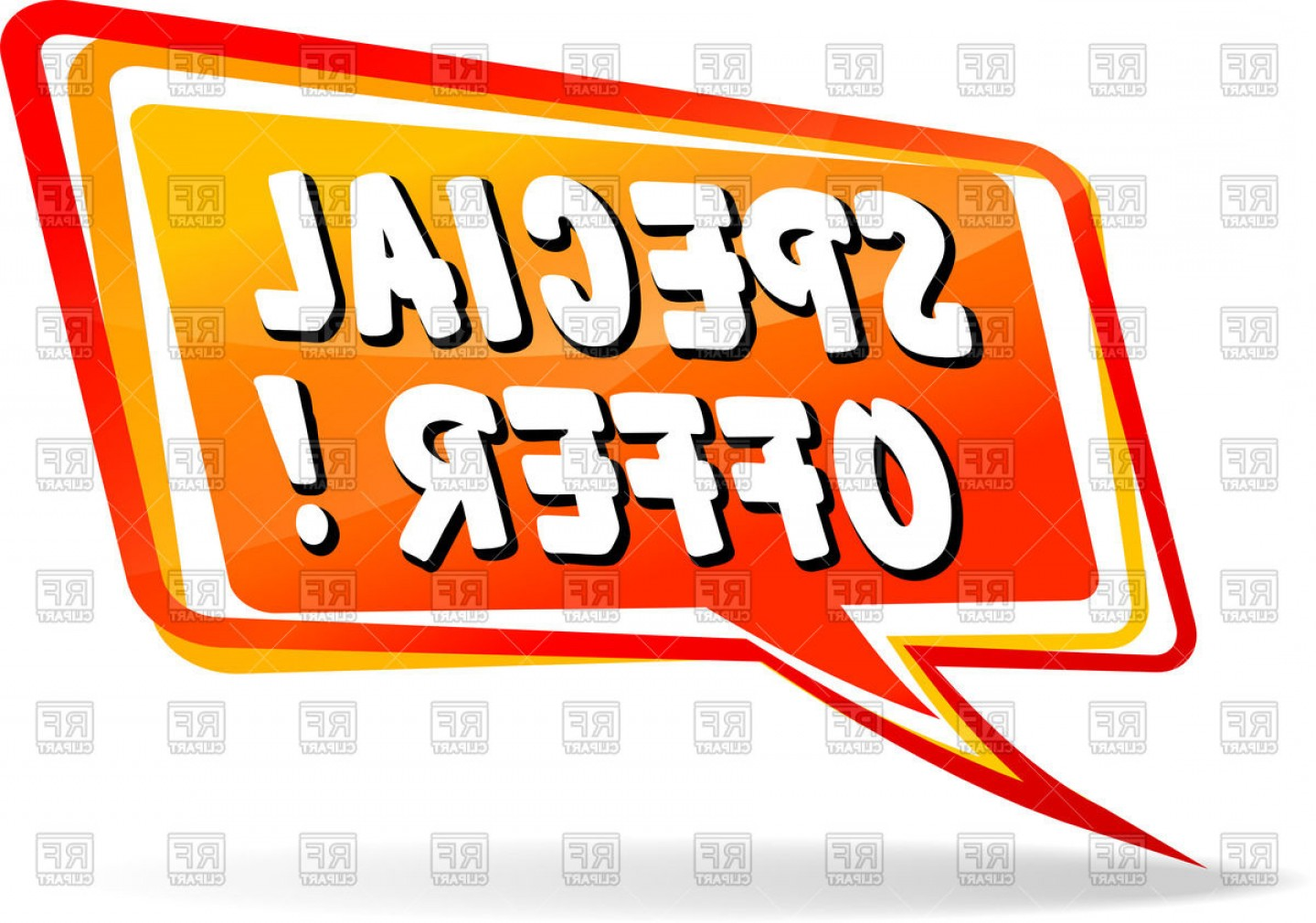 Special Offer Vector: Speech Bubble With Inscription Special Offer Vector Clipart