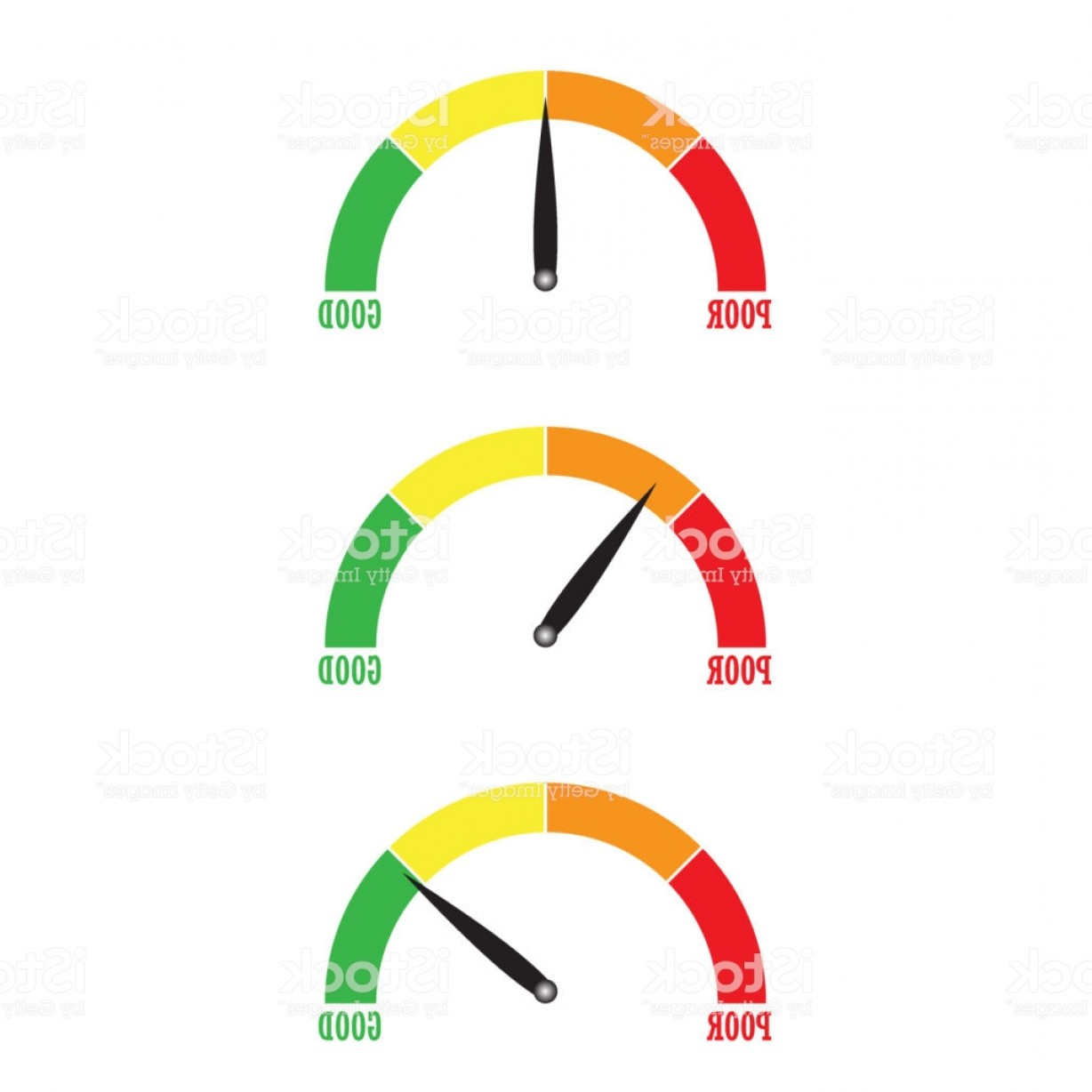 Low High Meter Vector: Speedometer Or Rating Meter Signs Infographic Gauge Element Vector Illustration Gm