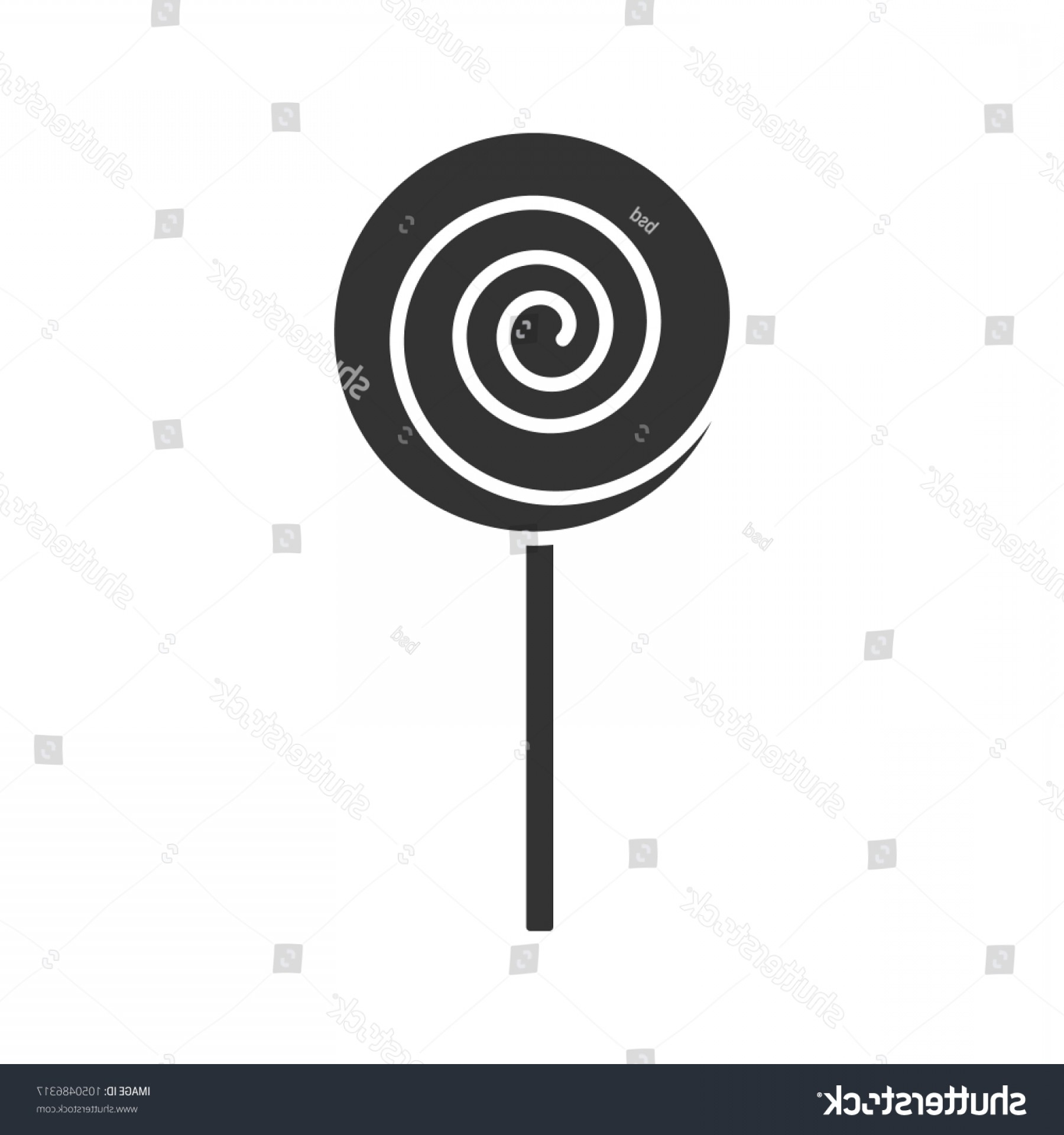 Lollipop Vector Silhouette: Spiral Lollipop Glyph Icon Lolly Sugar