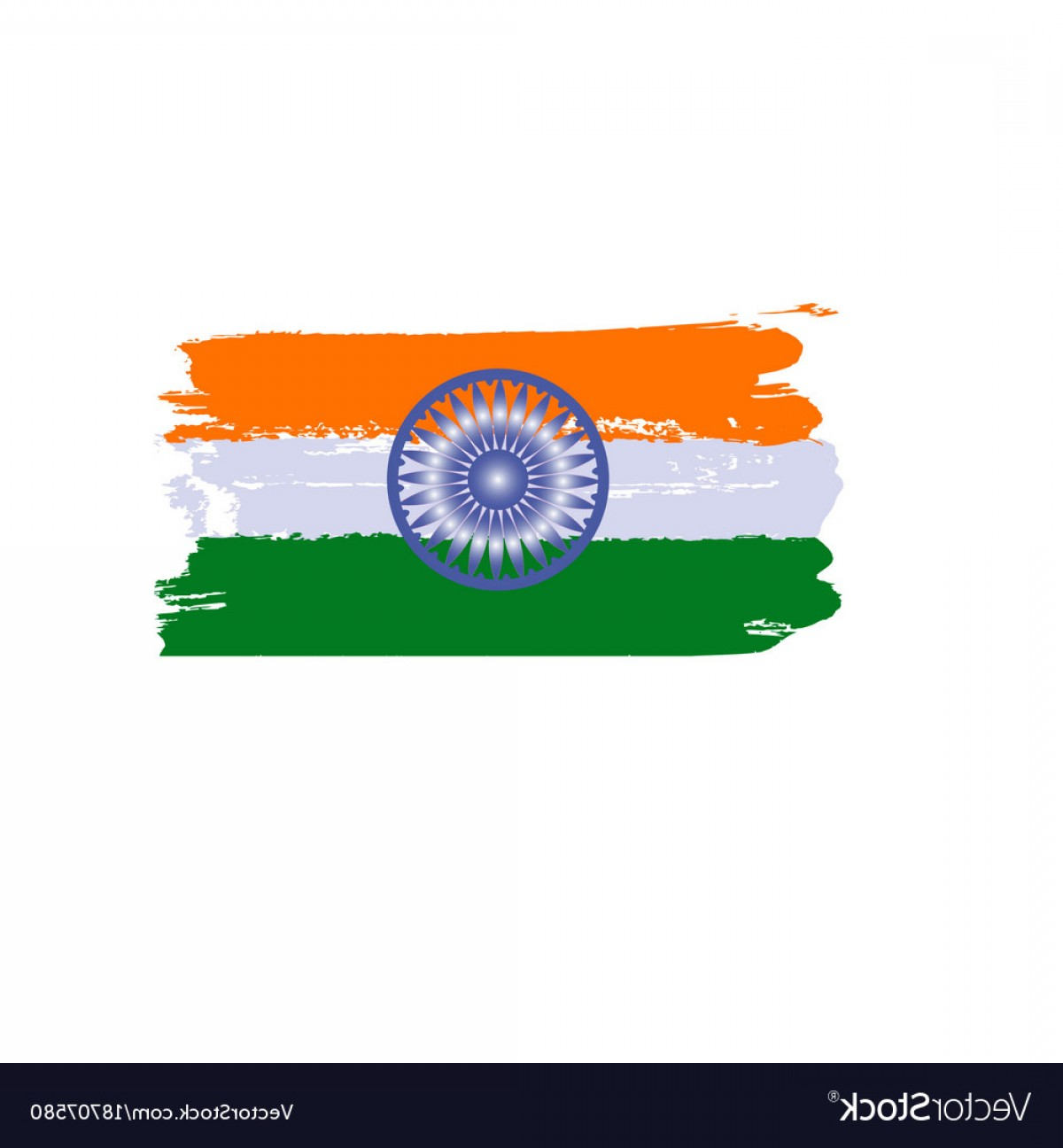 India Flag Vector: Splash Art India Flag Indian Republic Day Vector