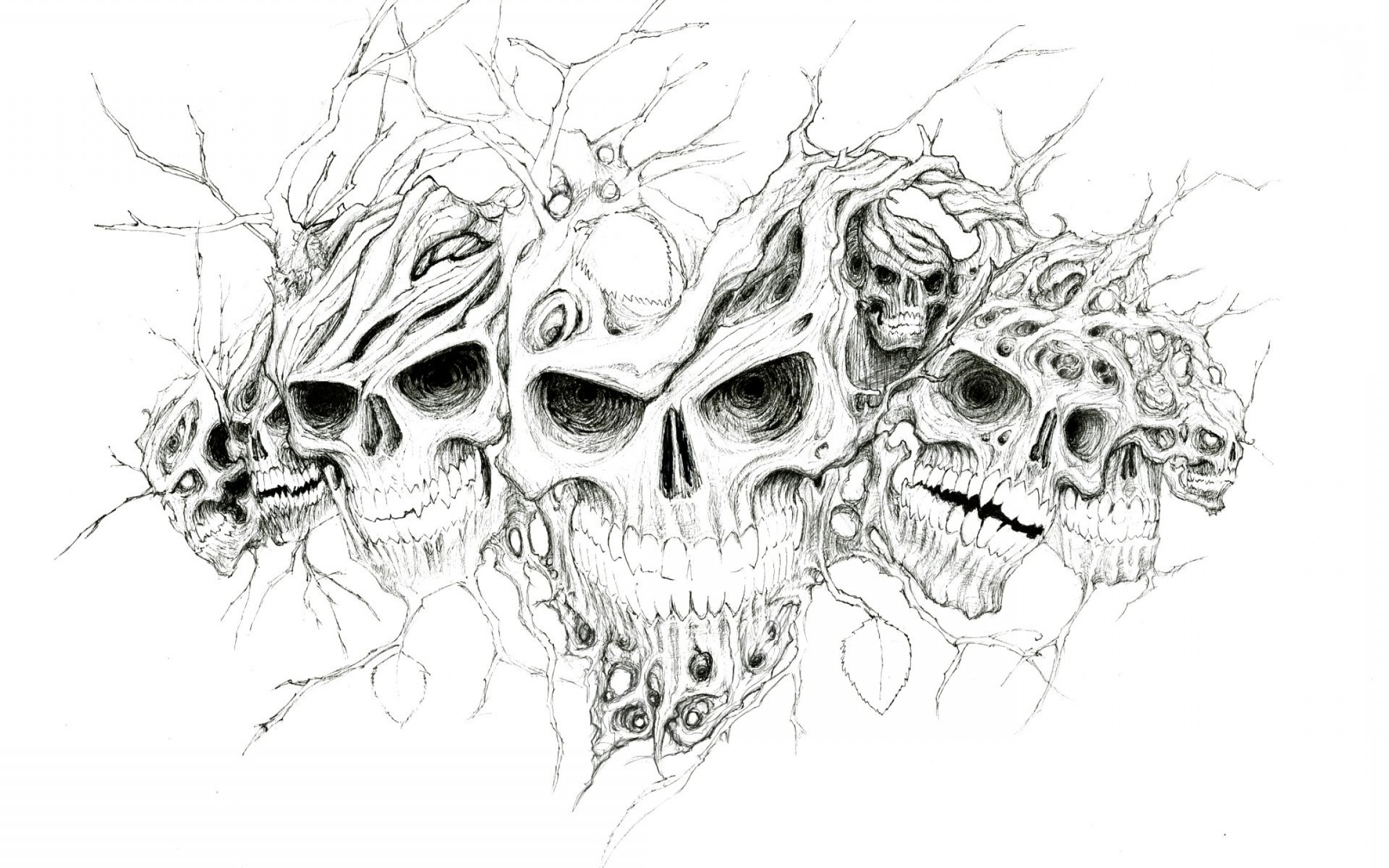 Cool Evil Vectors: Spooky Halloweenvector Original Fantasy Horrordark Cool Evil Creepy Desktop Images Download Artistic Artwork Scary Art