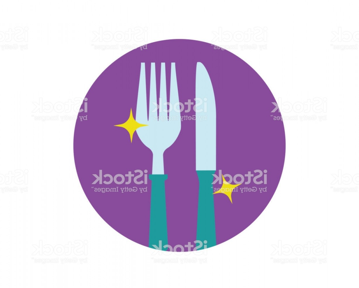 Modern Knife Fork And Spoon Vector Logo: Spoon And Knife Modern Flat Icon Illustration Vector Food Flat Icon Illustration Gm