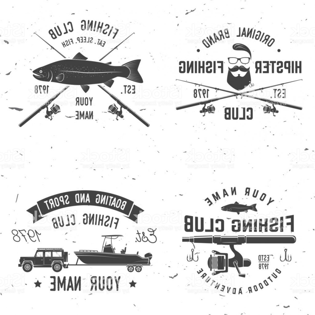 Vector X-15 Art: Sport Fishing Club Vector Illustration Gm