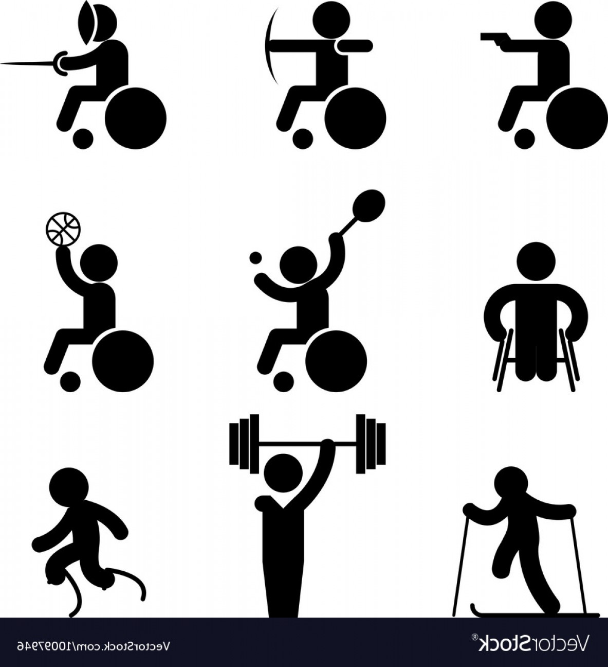 Sport Vector Art Games: Sport Paralympic Games Icons Vector