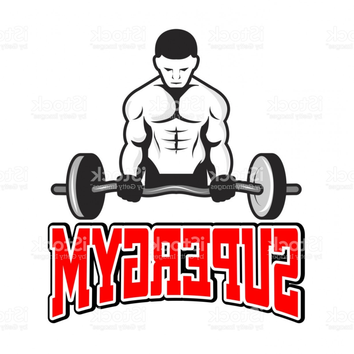 Weightlifter Vector Art: Sport Supergym A Weightlifter Background Vector Image Gm