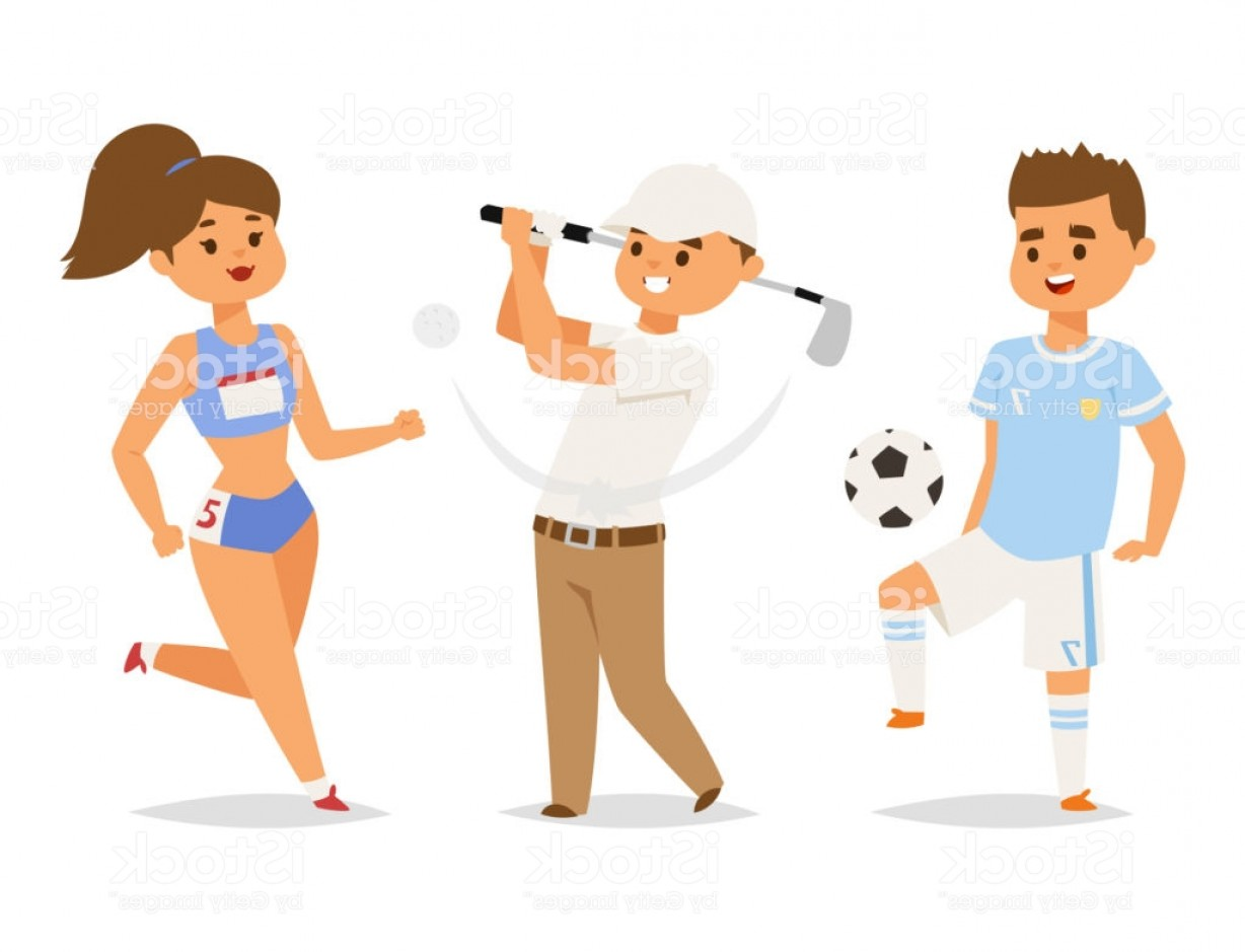 Vector People Man: Sport Wellness Vector People Characters Sporting Man Activity Woman Sporty Athletic Gm