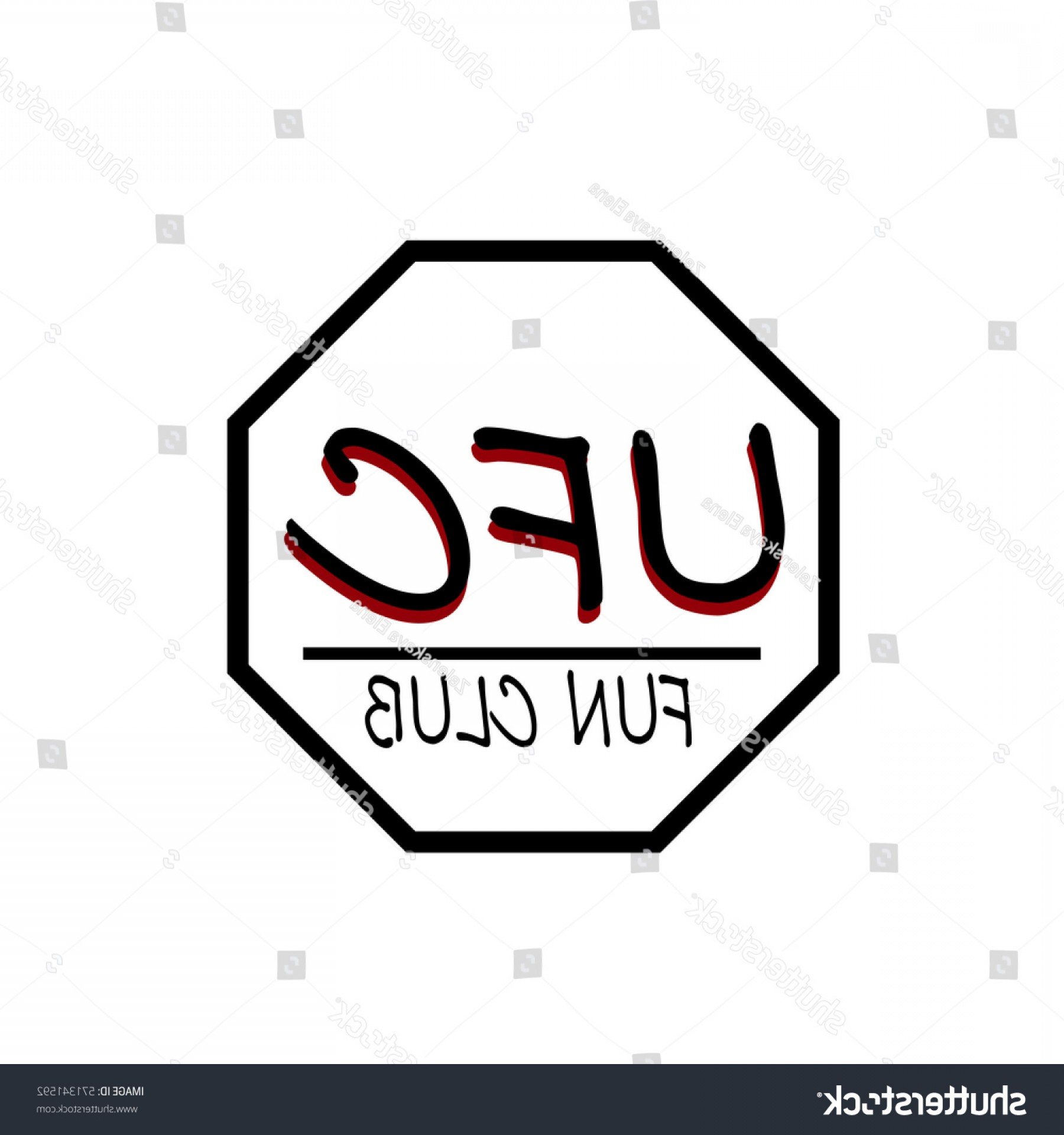 UFC Logo Vector: Sports Logo Ufc Fans Red Black