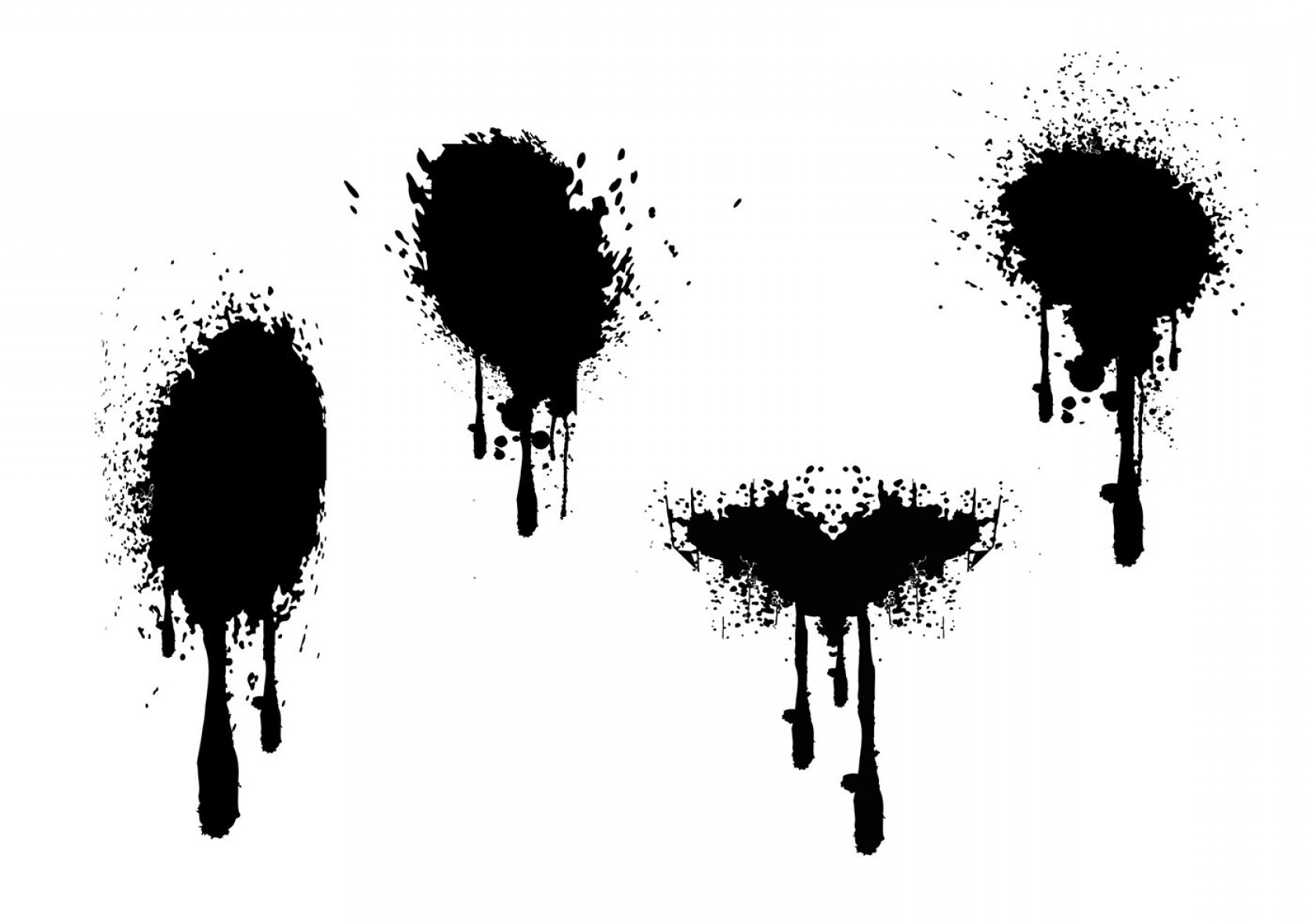 Dripping Paint Vector Illustration: Spray Paint Drips Grunge Vectors