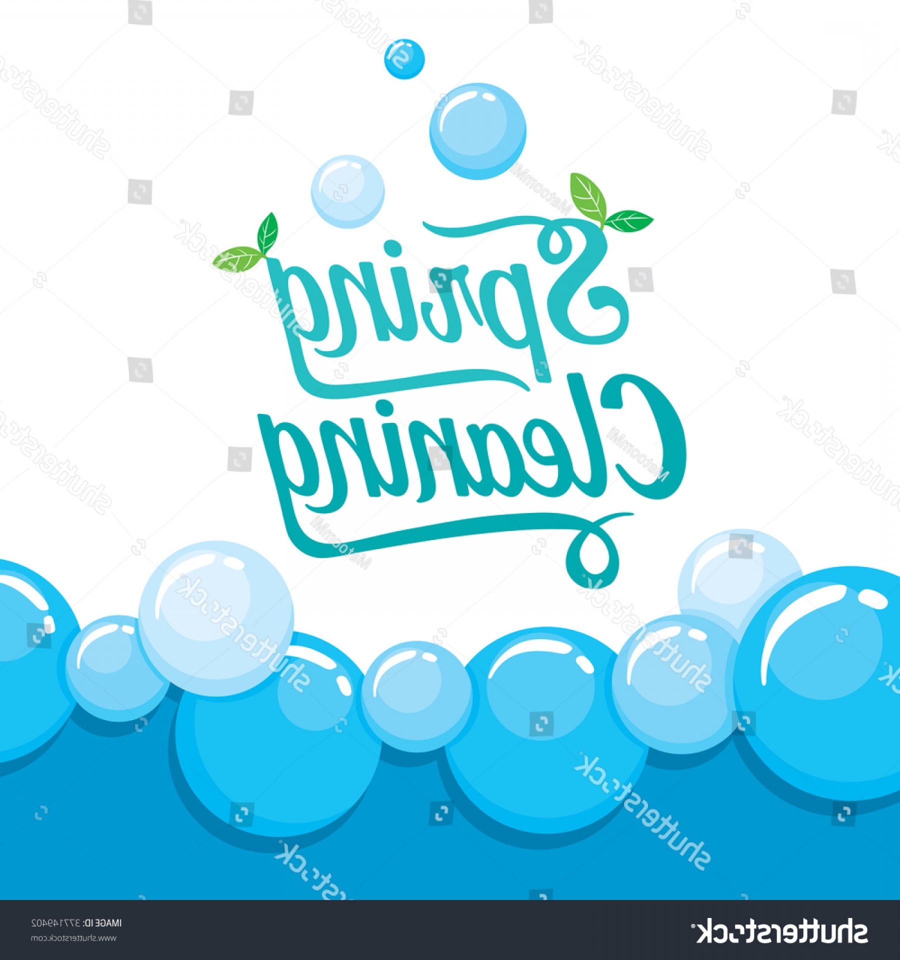 Cleaning Vector Background: Spring Cleaning Letter Decorating Foam Background