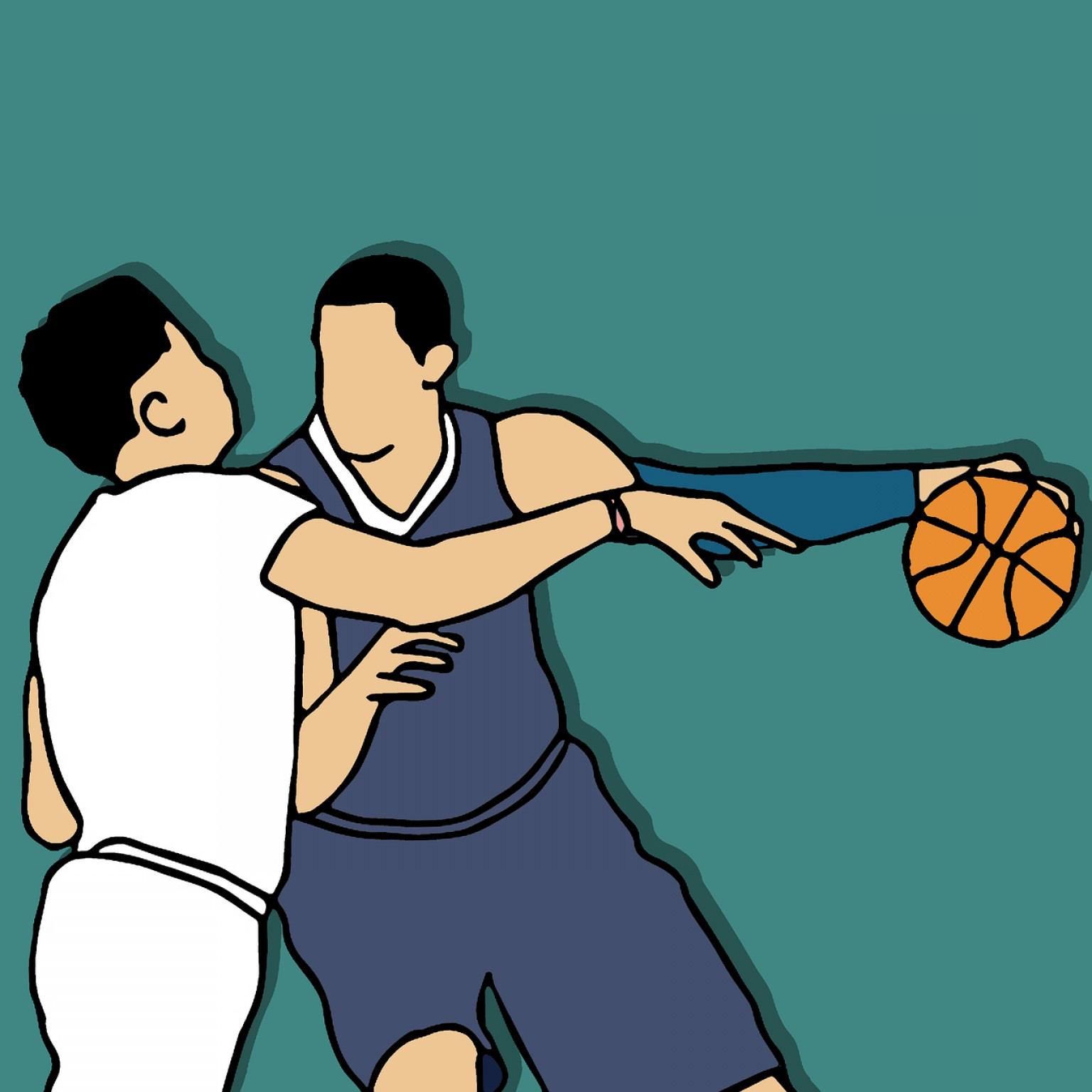 Spurs Clip Art Vector: Spurs Basketball Sports Challenge Power Defense Attack Push Vector