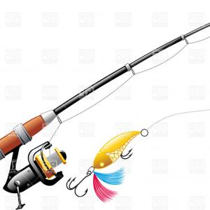 Rod And Reel Vectors: Photostock Vector Spinning Rod And Reel Combo Glyph Icon Fishing Equipment Silhouette Symbol Negative Space Vector Iso