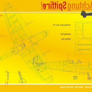 TIF Barbed Wire Vector: Spitfire Mk Ixc Late Bonus High Resolution Blueprint In Pdf And Tif