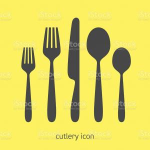 Cutlery Vector Illustration: Spoons Set Metallic Restaurant Cutlery Vector Illustration Image