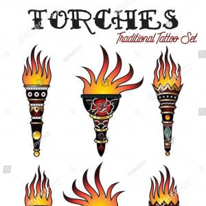 Custom Vector Torches: Sports Torches Drawn
