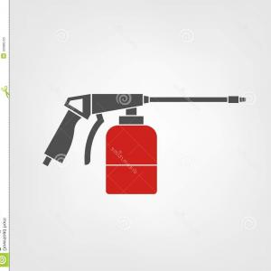 Vector Automotive Spray Gun: Spray Gun Icon Vector Illustration Car Body Repair Instruments Automotive Concept Useful Pictogram Icon Logotype Image