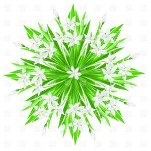 Polaris Star Logo Vector: Spring Flowers Star Bouquet Vector Clipart
